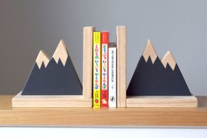 Book Gifts for Kids - Mountain Bookends from Etsy Seller Hachiandtegs