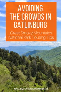 Avoid crowds in Gatlinburg and Great Smoky Mountains National Park when you use these handy tips for your next family vacation to the Smokies.