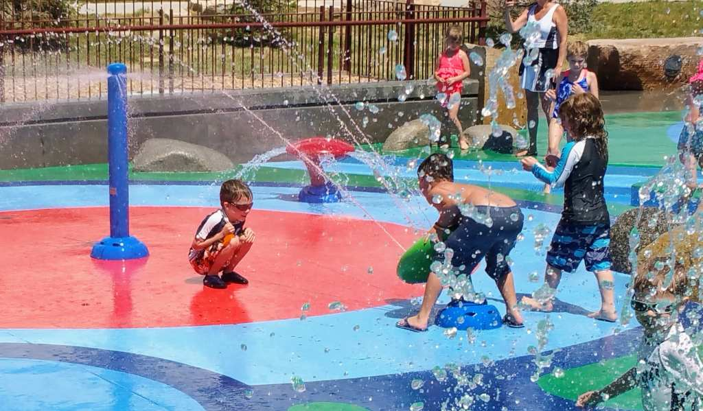 Affordable Hidden Gems in Denver for Kids - Centennial Central Park splash pad