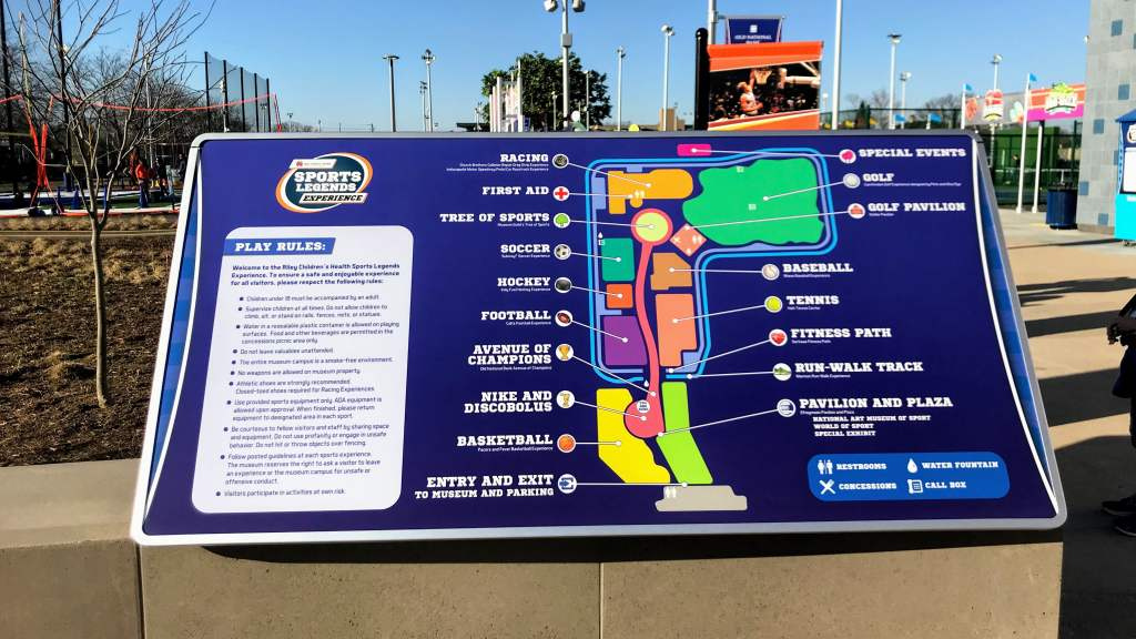 Sports Legends Experience Tips - Map of Outdoor Exhibits