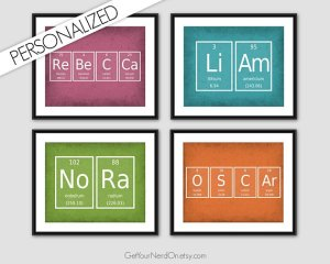 Unique Teacher Appreciation Gifts - personalized chemistry sign