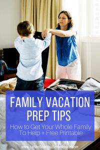 Family Vacation Prep Checklist
