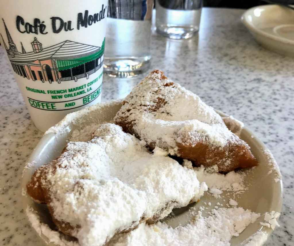 French Quarter with Kids - Cafe Du Monde beignets