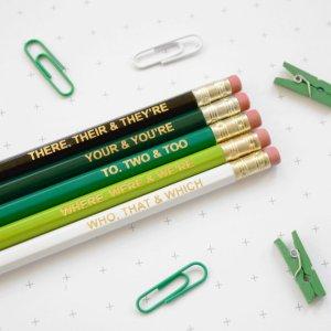 Unique Teacher Appreciation Gifts - grammar pencils
