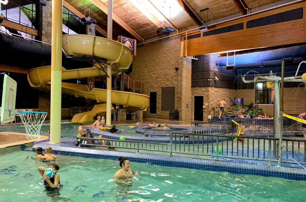 Brown County With Kids in Winter - Abe Martin Lodge Pool