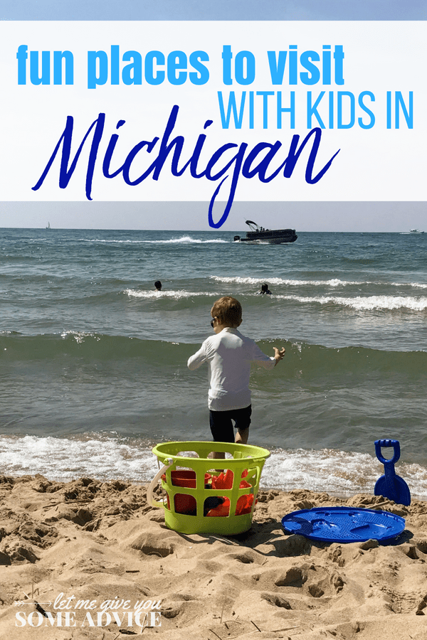 Fun Places to Visit in Michigan with Kids. A round up of Michigan getaways for families