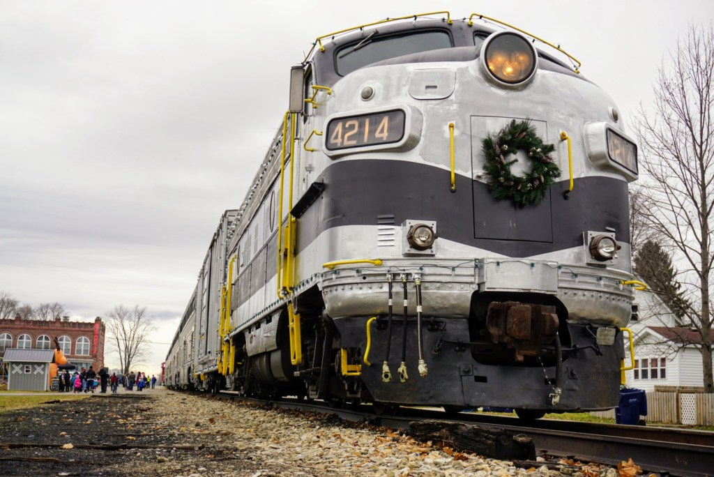 Christmas Events in Indianapolis for Kids - Nickel Plate Express Reindeer Ride Express train