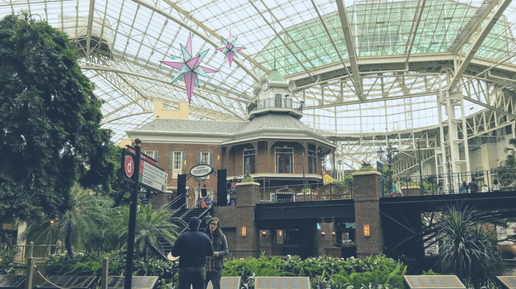 Touring the Opryland Hotel with kids - atrium in Nashville