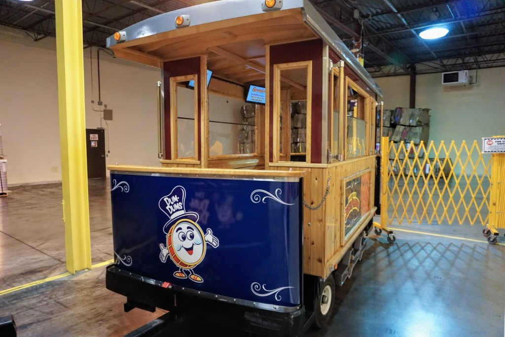 Spangler Candy Factory Tours - train trolley