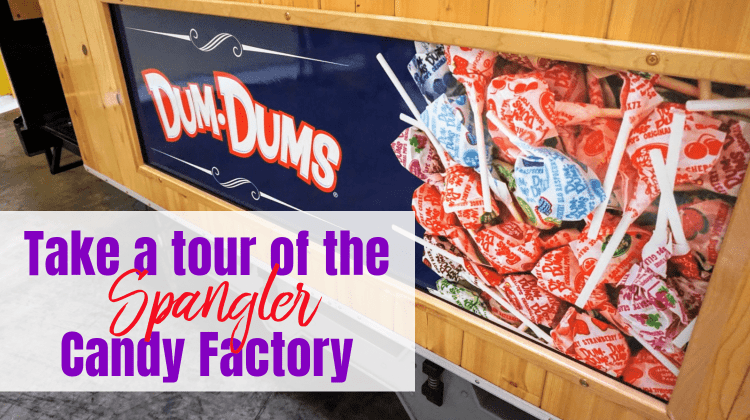 Spangler Candy Factory Tour feature image with text