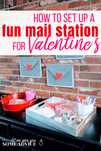 Valentine's Mail Station. How to create a literacy invitation in your house with this fun Valentine's Day tradition