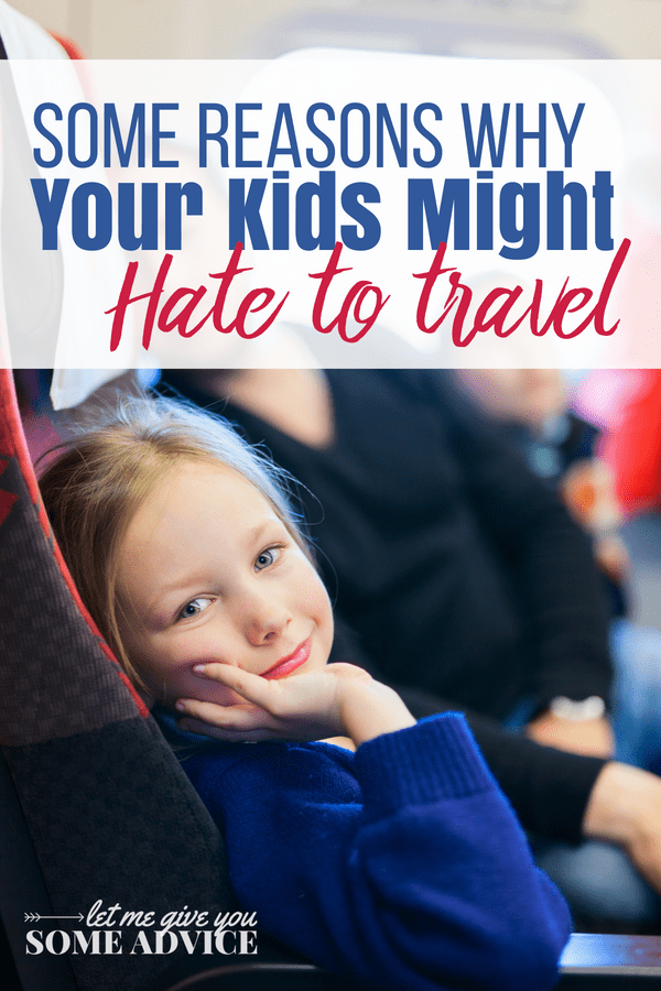 What happens when you love to travel and your kids don't? Find out why your kids hate traveling, plus tips to make traveling with kids go more smoothly. Don't skip out on the chance to show your family the world just because you've got grumpy little travelers. Includes access to a free printable of travel tips for kids.