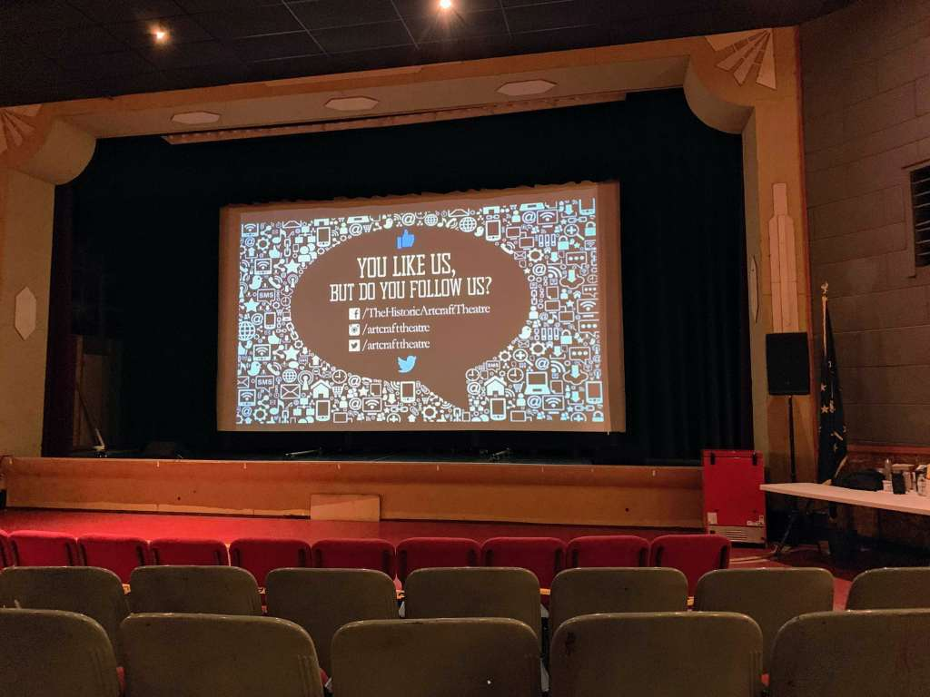 Artcraft Theatre Interior screen
