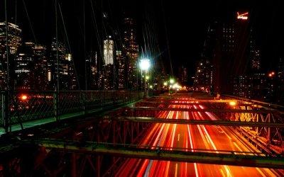 Timelapse sur le pont de Brooklyn