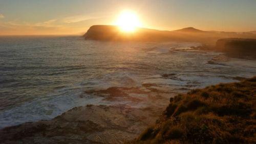 Purakaunui Bay coucher de soleil