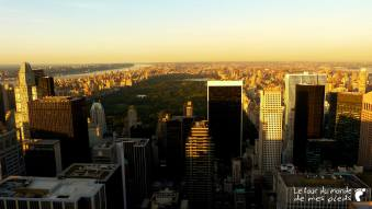 vue depuis top of the rock central park