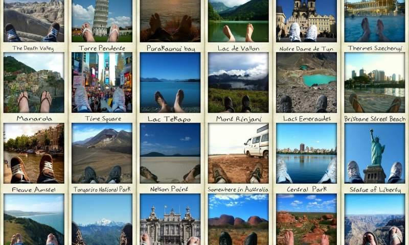 Le tour du monde de mes pieds itinéraire tour du monde