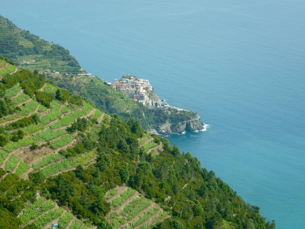 Manarola Cinque Terre vu d'en haut road trip italie