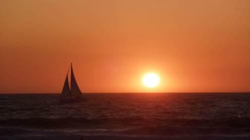 Coucher de soleil sur la plage de Venice Beach, 2009