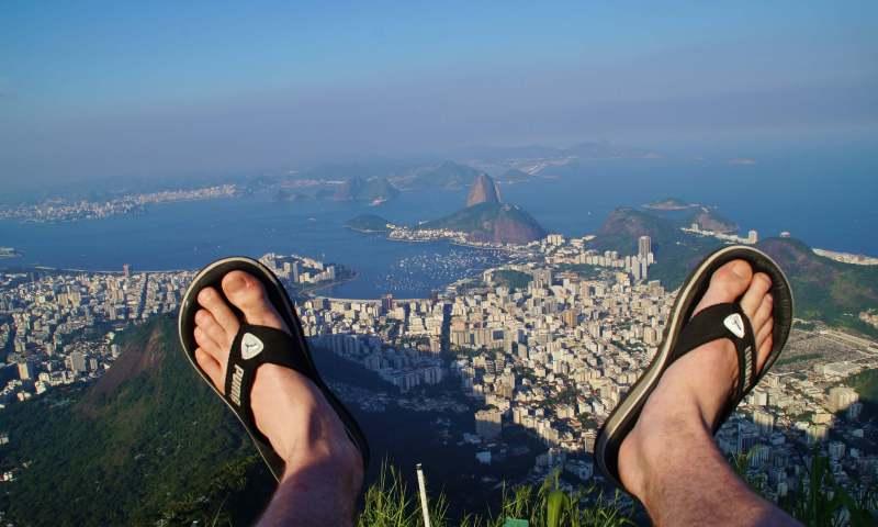 Baie de rio tour du monde de mes pieds