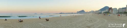 panorama plage de copacabana coucher de soleil