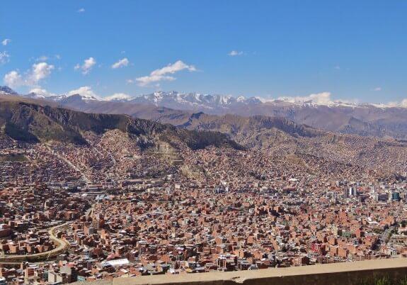 La Paz bolivie panorama