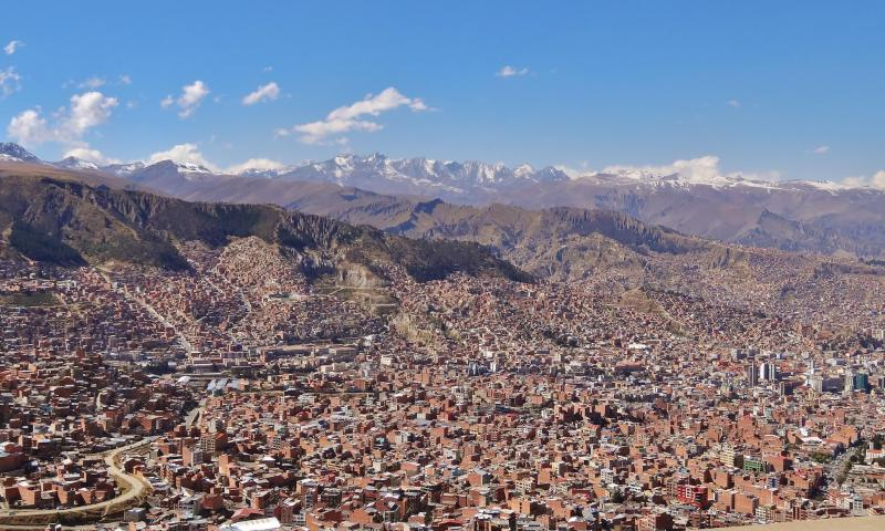 panorama La paz bolivie
