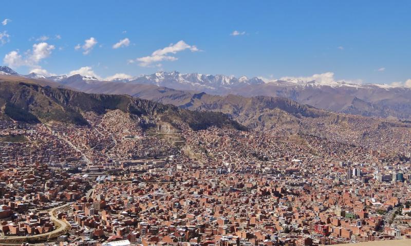 panorama La paz bolivie