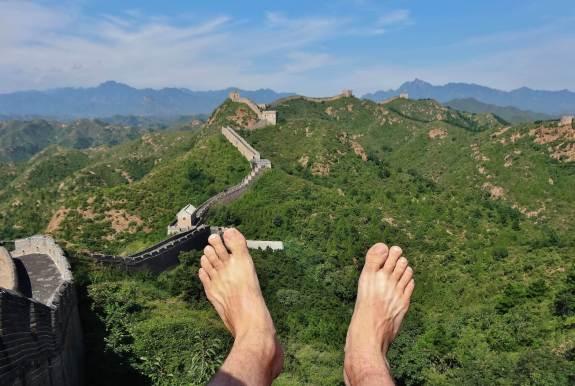 La grande muraille de chine mes pieds autour du monde