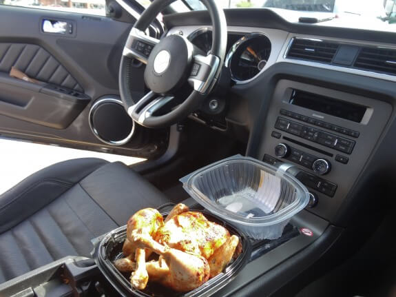 Petit déjeuner poulet roti ! (7$) en road trip