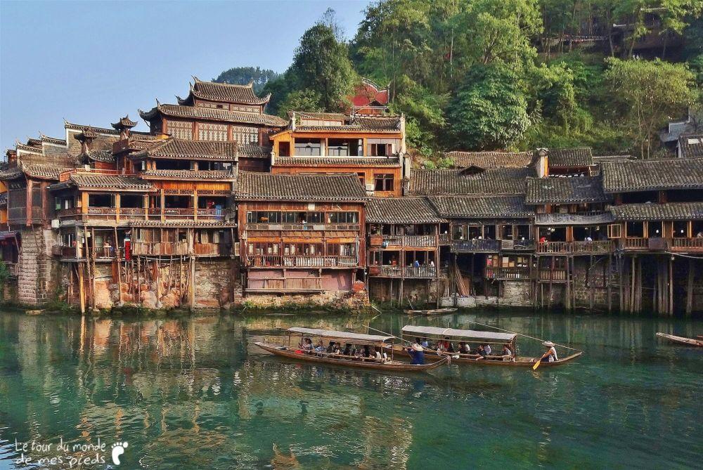 Fenghuang Chine maisons pilotis