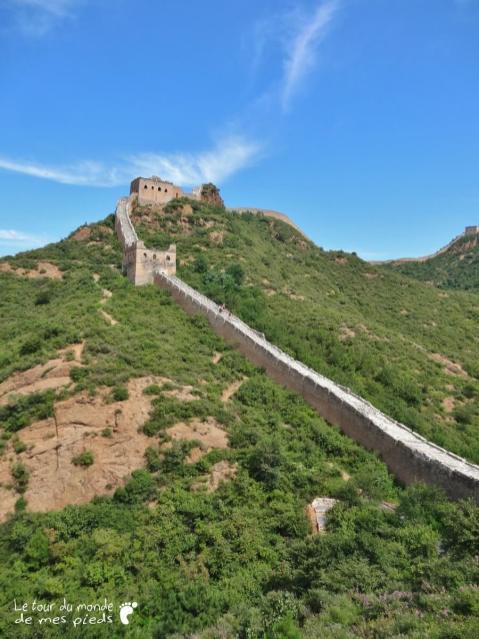 panorama sur la grande muraille