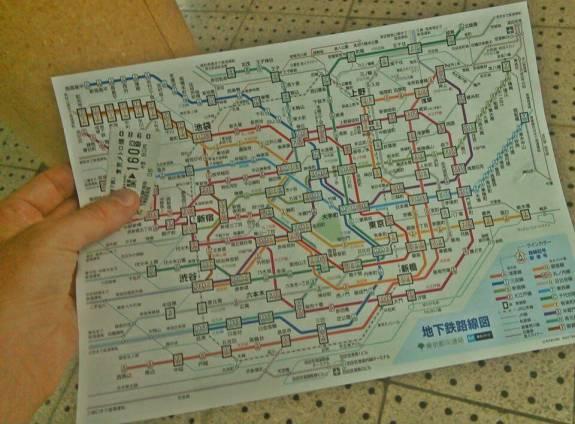 carte du métro de Tokyo