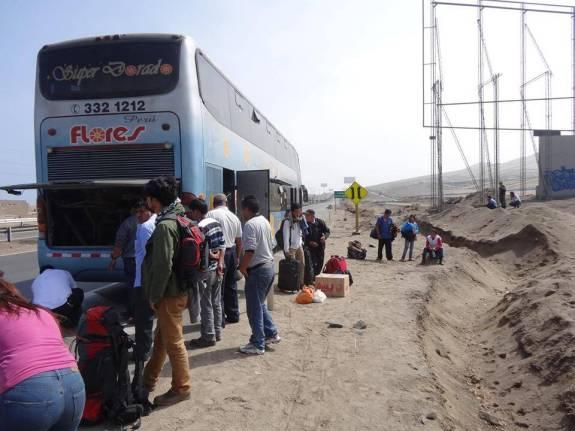Panne de bus Pérou