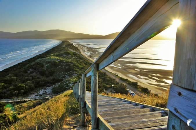 The Neck sur Bruni Island pendant un road-trip en Tasmanie, 2015