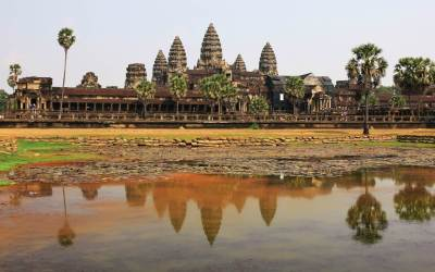 panorama sur le temple Angkor wat