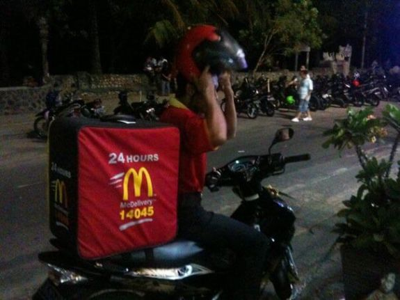 McDelivery McDonald's Katu Beach