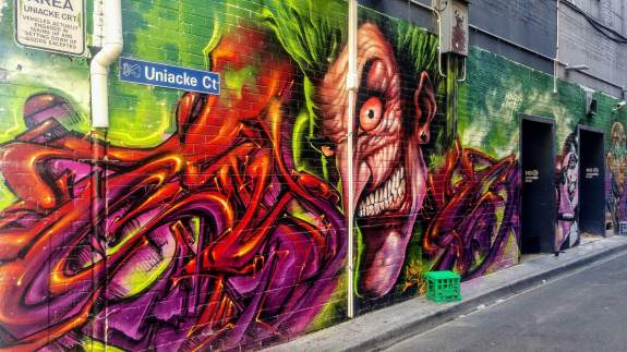 Uniacle Melbourne street art