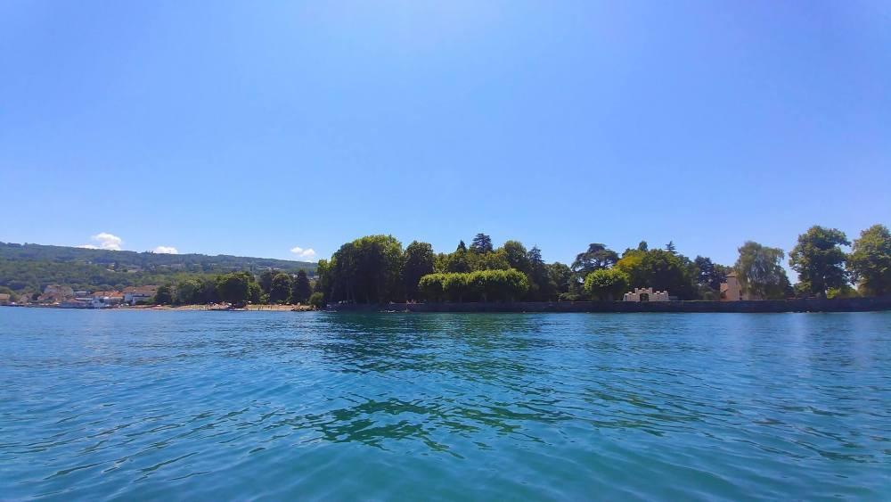 plage amphion vue du lac