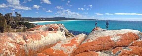 Bay of fires, Tasmanie - Il y a toujours quelqu'un derrière l'appareil.