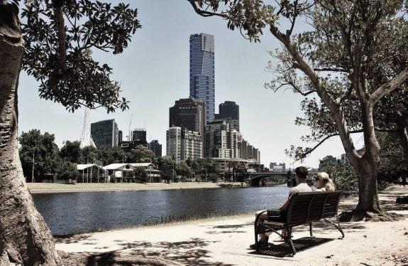 Melbourne Skyline Yarra River