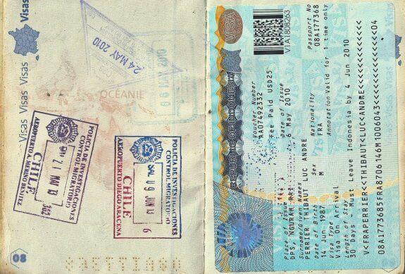 passeport tampons tour du monde