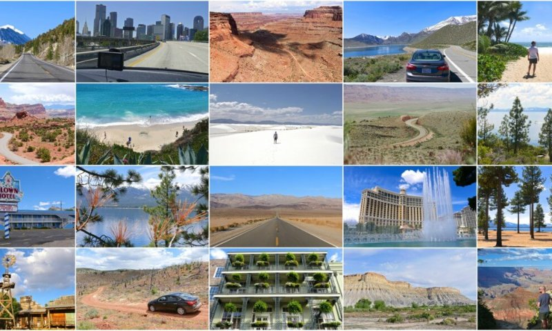 collage 60 jours road trip