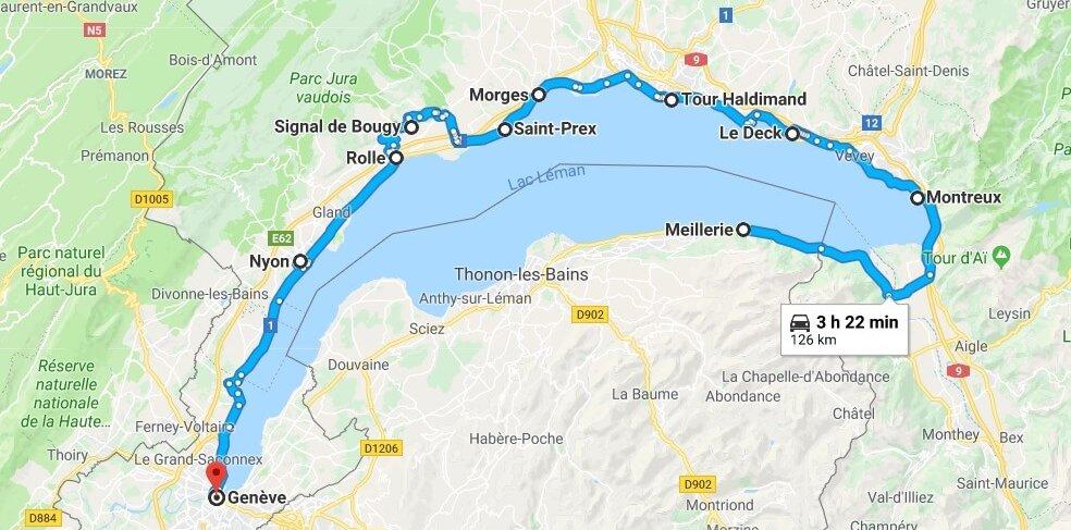 road trip Leman côté Suisse