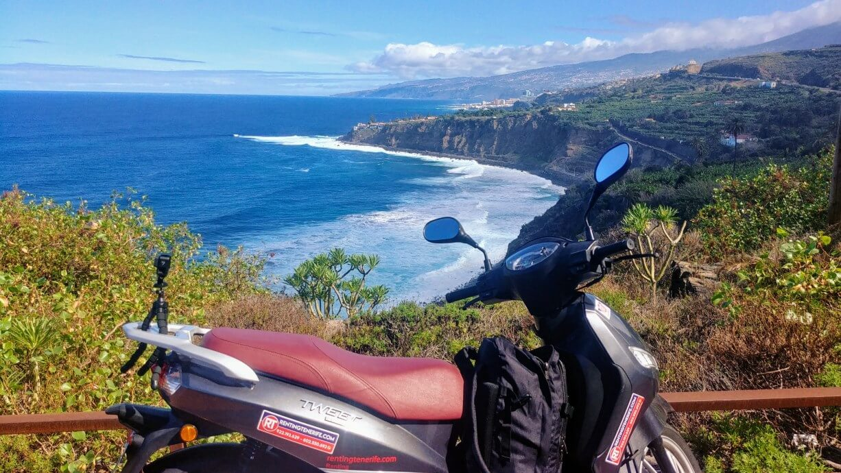 road trip scooter Tenerife