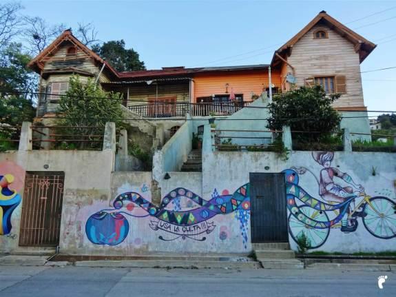 Street art Valparaiso vélo