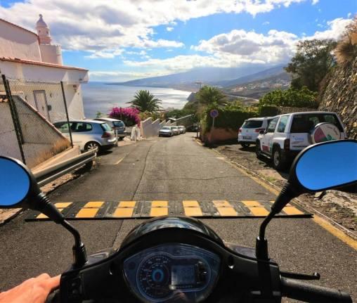 scooter Tenerife POV
