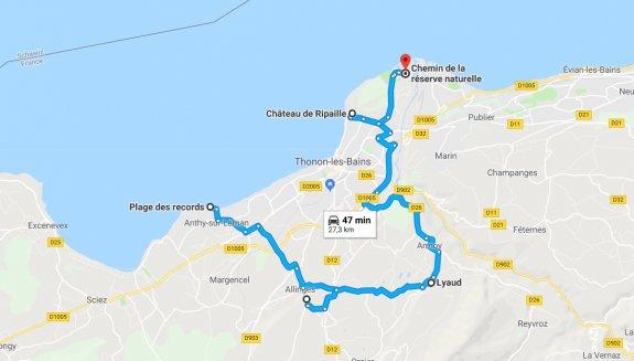itinéraire Thonon Geopark Chablais