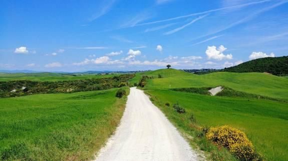 route isolée Toscane