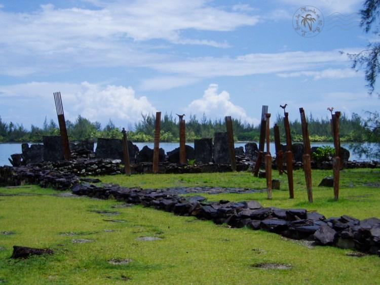 Le marae Rauhuru de Maeva à Huahine